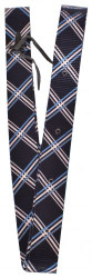 Showman® Nylon Tie Strap with navy plaid design.