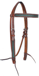 Showman ® Argentina cow leather brownband headstall.