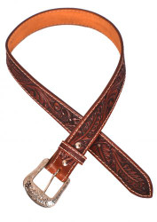 Showman ® Men's Agrentina Cow Leather Belt with Acorn Tooling.