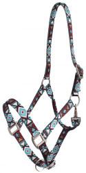 Showman® Premium Nylon Horse Sized Halter with Geometric Design.