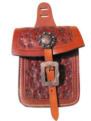 Showman ® Floral tooled saddle pocket.