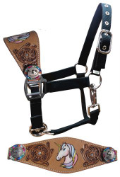 Showman ® Pony Size Unicorn bronc halter.
