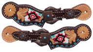 Showman ® Youth navajo beaded spur straps.