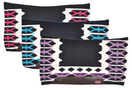 "Showman® 34"" X 36"" contoured cutter style saddle pad with navajo top design."