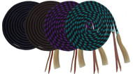 Showman® 23' Nylon braided Mecatie Reins with Horse Hair Tassle.