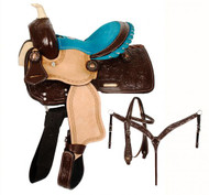 "10"" Double T  Pony saddle set.."