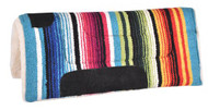 "Showman® 24"" X 24"" Serape saddle pad with fleece bottom."