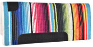 "Showman® 30"" X 32"" Serape saddle pad with fleece bottom."