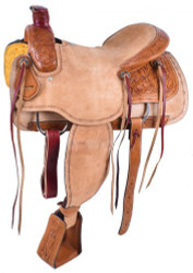 "15"", 16"" Circle S Roping Saddle with Roughout Seat.  ***Full QHB***"