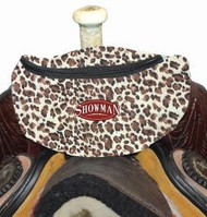 Showman ® Leopard Print Insulated Nylon Saddle Pouch.