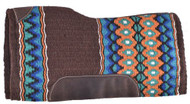 "Showman® 34"" x 36"" Brown memory felt bottom saddle pad."