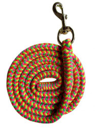 8' Rainbow Braided Softy Cotton Lead Rope.