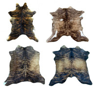 Brazilian Brindle Calf Hides. Measures approx. 7.5 - 10 square feet.