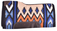 "Showman® 34"" x 36"" Royal Blue memory felt bottom saddle pad."