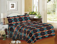 4PC Queen Size Navajo Print Sheet Set.