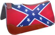 "Showman ® 31"" X 32"" Rebel Flag Printed Solid Felt Saddle Pad."