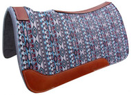 "Showman ® 31"" X 32"" Navajo Printed Solid Felt Saddle Pad."