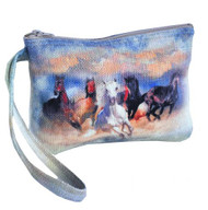 """Wild and Free"" Running Horse Wristlet."