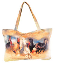 """Wild and Free"" Running Horses Handbag."