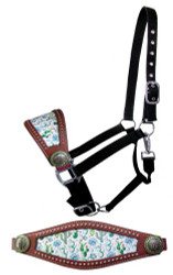 Showman ®  Adjustable nylon bronc halter with cactus print noseband.