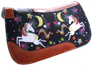 "Showman ® PONY SIZE 24"" x 24"" Dreaming Unicorn printed solid felt saddle pad."