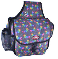 Showman ® Unicorn printed insulated cordura nylon saddle bag.
