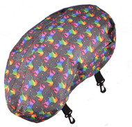 Showman ® Unicorn printed nylon cantle bag made of sturdy nylon material.