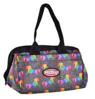 Showman® Unicorn printed durable nylon mini tote bag.