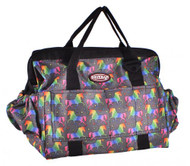 Showman ® Unicorn printed nylon grooming tote.