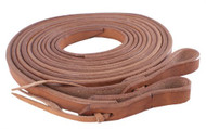 "Showman ® 5/8"" x 8ft Harness leather split reins."