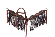 Showman ® PONY  Hand painted arrow design headstall and breast collar.