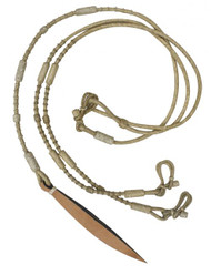 Showman Natural Rawhide Braided Romal Reins With Leather Popper