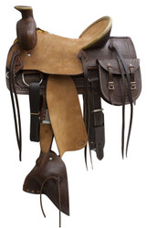 "16"" Blue River Hardseat Western Roping Saddle"