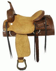 Blue River Bullhide Cutting Saddle