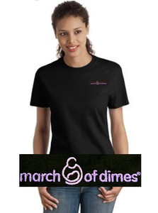 March of Dimes Women's Shirt Black
