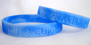 Blue Ribbon Find A Cure Wristbands - 5 Pack FREE Shipping!