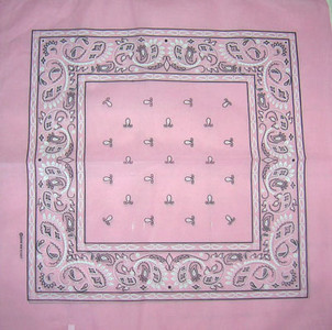 Pink Paisley Bandana Pack of 6 - FREE Shipping!