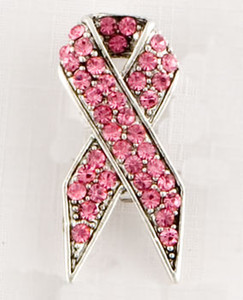 Pink Ribbon Brooch