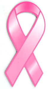 Pink Ribbon Car Magnet