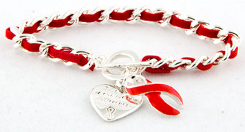 Red Ribbon Bracelet