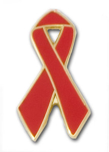 Red Ribbon Pin FREE Shipping!
