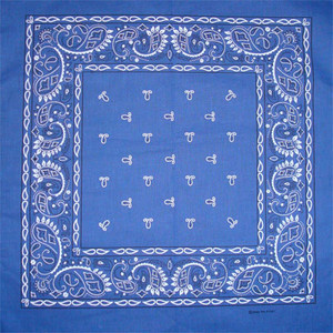 Royal Blue Paisley Bandana Pack of 6 - FREE Shipping!