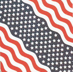 Stars & Stripes Bandana Pack of 6 - FREE Shipping!
