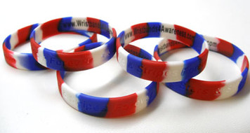 Stars and Stripes Wristbands Family 5 Pack FREE Shipping!