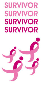 Susan G. Komen SURVIVOR Tattoo Sheet - 5 Pack FREE Shipping!