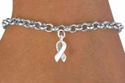 Silver Ribbon Charm Bracelet FREE Shipping!