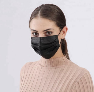 Black Disposable Mask - High Quality Protection with Ear Loops and Nose Wire- Pack of 10 - FREE Shipping!