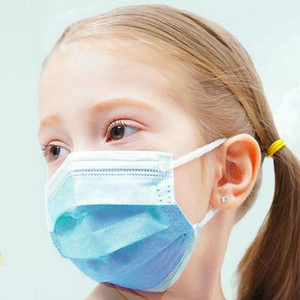 Kids Standard Disposable Mask with Ear Loops and Nose Wire - Pack of 10 - FREE Shipping!