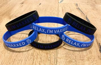 Relax, I'm Vaxxed Wristbands 6 Pack
