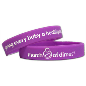 March of Dimes Healthy Youth Wristbands - Youth Size - 10 Pack